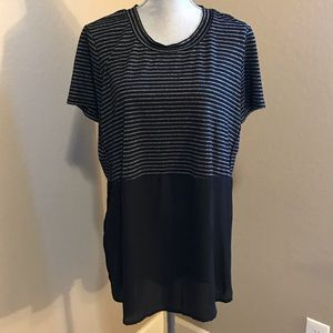 Mossimo stripped/sheer t-shirt - Size XXL